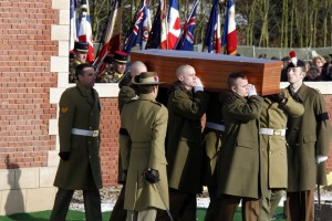 Military reburial of the first Fromelles soldier
