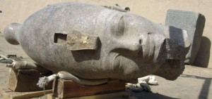 Amenhotep III's colossal head