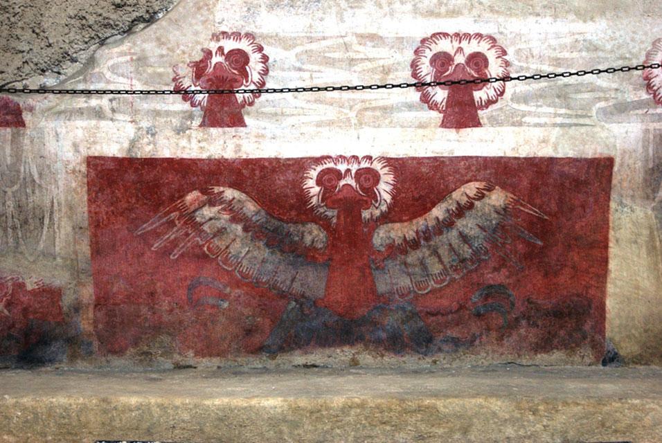 'Las Aguilas' mural in Tetitla