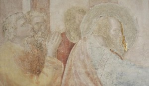 Original Giotto painting from Peruzzi Chapel in Santa Croce