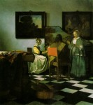 'The Concert' by Johannes Vermeer, 1658-1660