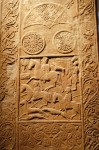 Pictish stone with engraved symbols