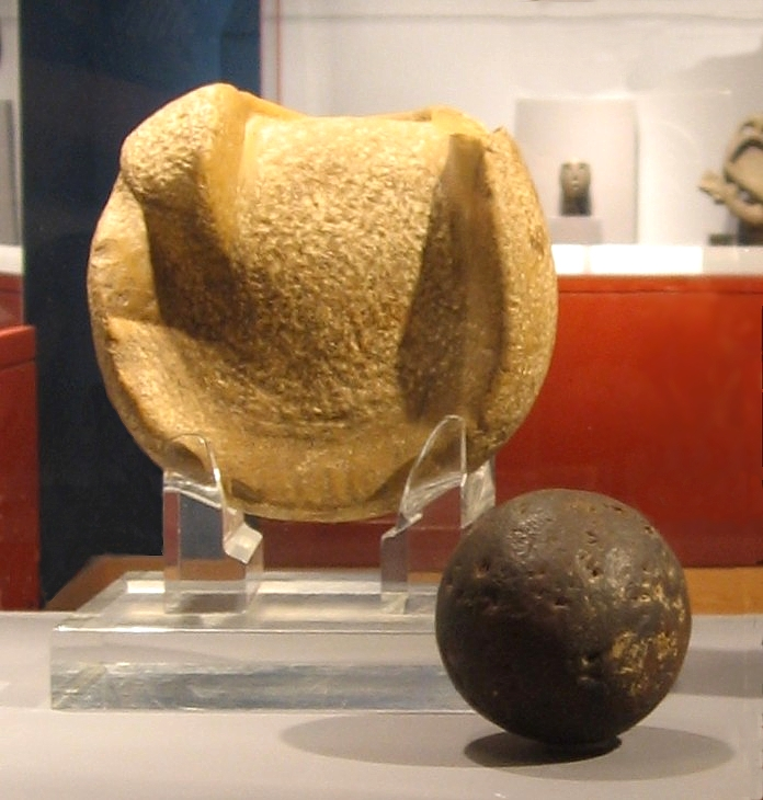Mesoamericas manopla and rubber ball