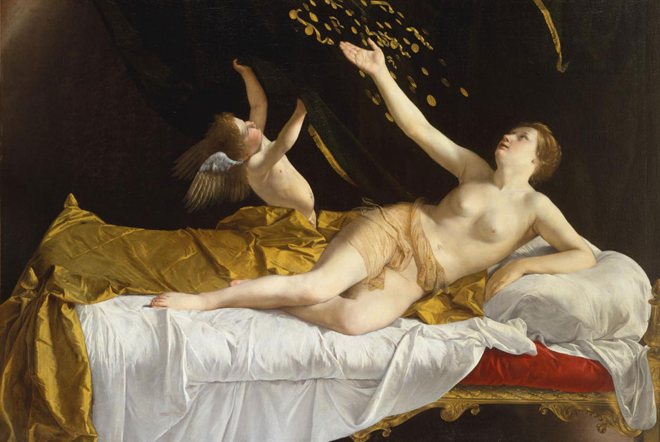 'Danaë and the Shower of Gold' by Orazio Gentileschi, ca. 1621–22