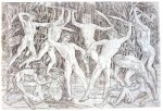 Battle of the Nudes, engraving, Pollaiuolo, 1470-1490?
