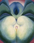 'Series I White & Blue Flower Shapes' by Georgia O'Keeffe, 1919
