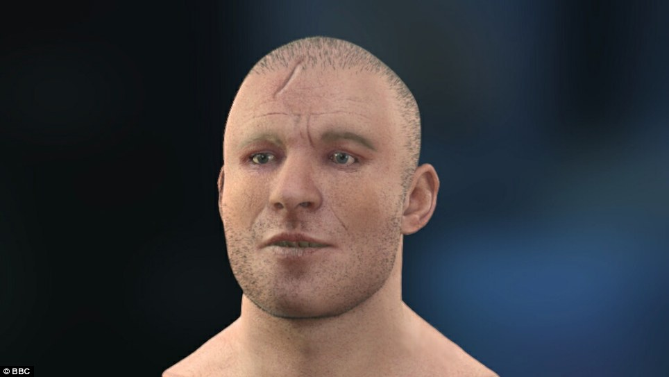 Computer reconstructed face of Stirling Castle knight, d. 1341