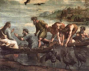 The Miraculous Draught of Fishes, cartoon by Raphael (1515)