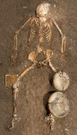 Wealthy female buried with jewels and an iron pyrite mirror