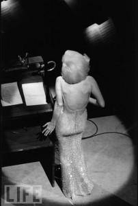 Marilyn Monroe singing 'Happy Birthday' to JFK