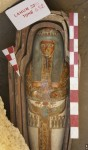 Painted wooden sarcophagus