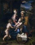 'Holy Family la Perla' by Raphael and his pupil, Giulio Romano