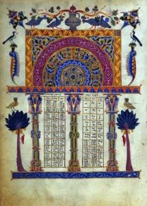 Page from Armenian Bible illuminated by T'oros Roslin, ca. 1256