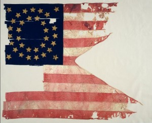 7th Cavalry guidon from the Battle of Little Bighorn