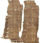 Papyrus fragments thought to have been signed by Cleopatra