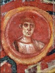 St. John icon on the ceiling of catacomb of St. Tecla