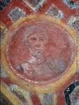 St. Peter icon on the ceiling of catacomb of St. Tecla