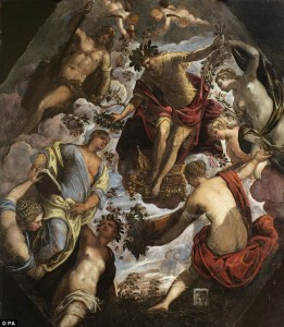 """Apollo (or Hymen) Crowning a Poet and giving him a Spouse"", Jacopo Tintoretto, 1560-1570"