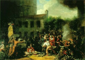 'La prise de la Bastille' by Charles Thévenin, 1793