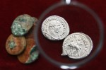 2 silver denarii from Carausius&#039; reign