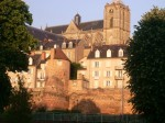 3rd c. Gallo-Roman wall around Le Mans, cathedral behind it