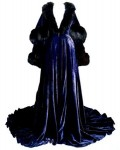 Blue velvet peignoir