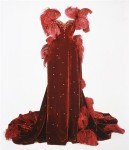 Scarlett's burgundy ball gown