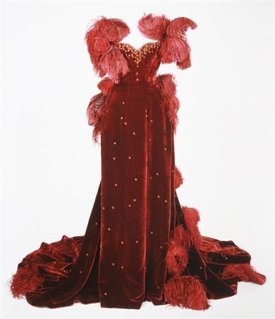 Scarlett's burgundy ball gown