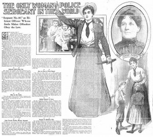 Det. Sgt. Marie Owens on the front page of the Chicago Daily Tribune, 1904