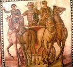 Victorious Red charioteer, 3rd c. mosaic