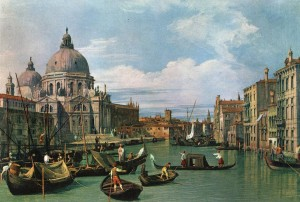 The Grand Canal and the Church of the Salute, Canaletto (1697-1768)
