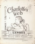 &#039;Charlotte&#039;s Web&#039; original cover drawing by Garth Williams, 1952