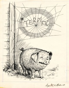 &quot;Terrific&#039; illustration from &#039;Charlotte&#039;s Web&#039; by Garth Williams