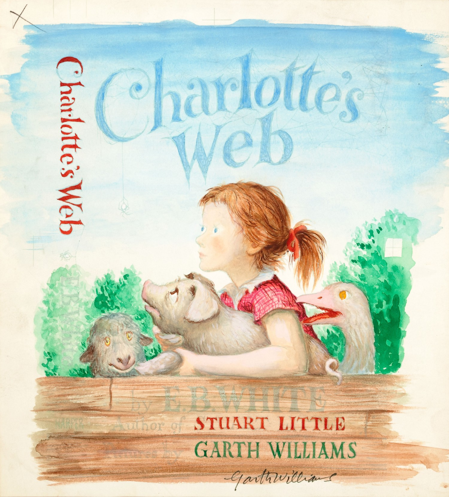Watercolor book covers -  Charlotte S Web Watercolor Of Cover Design Garth Williams