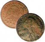 German George Washington token, possibly valued as a cent in prison currency