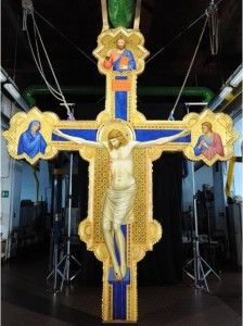 Restored Giotto crucifix, Ognissanti Church, ca. 1320