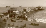 Hastings Pier in 1912, original pavilion at the end