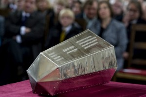 Queen Edith's new titanium coffin