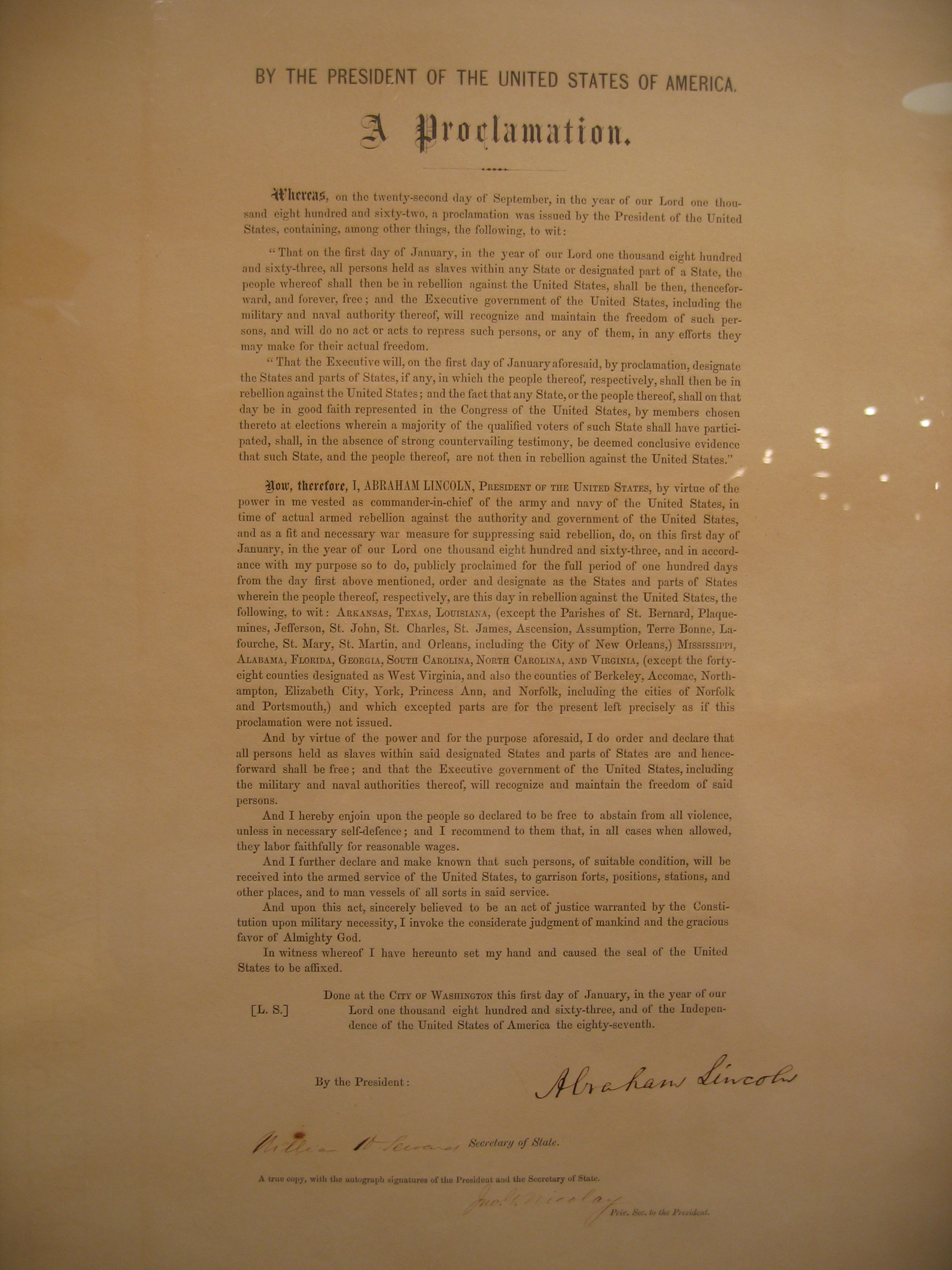 Emancipation Proclamation Actual Document | www.pixshark ...