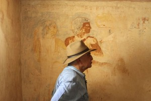 Hawass at tomb of Rudj-Ka, 2374-2513 B.C.