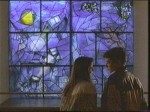 Sloane and Ferris romancin' in front of Chagall's America Windows