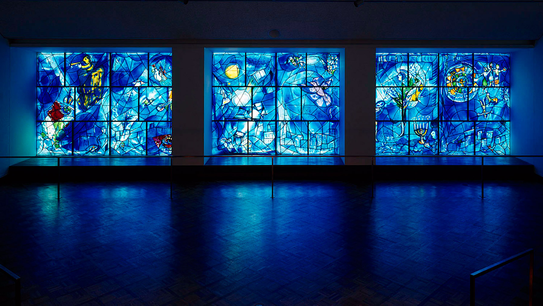The history blog blog archive chagall s america for Chagall mural chicago