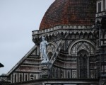 Fiberglass David on the roof of Florence's Duomo