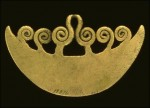 Inca gold pendant retrieved by Hiram Bingham at Machu Picchu