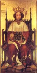 Richard II coronation portrait, ca. 1390
