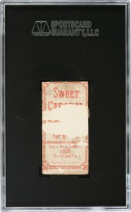 T206 Honus Wagner card, back