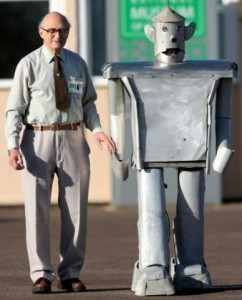 Tony Sale walks with George