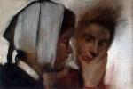 """""""Blanchisseuses Souffrant des Dents,"""" Edgar Degas, 1870-72"""