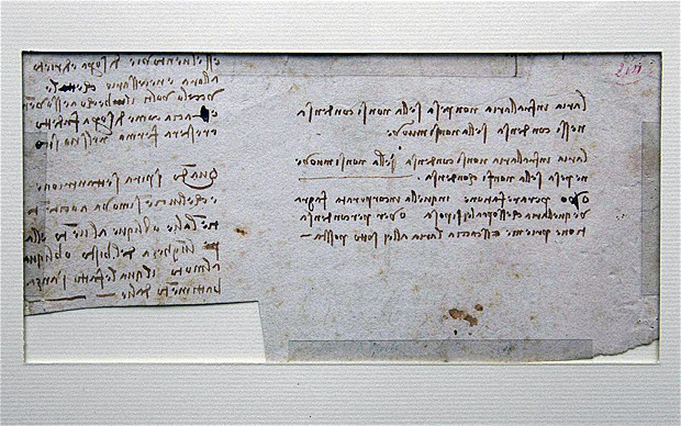 da Vinci manuscript found in Nantes library