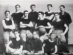 First KU basketball team, 1899, Naismith back row right